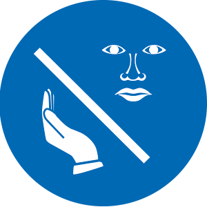 Gesicht nicht berühren