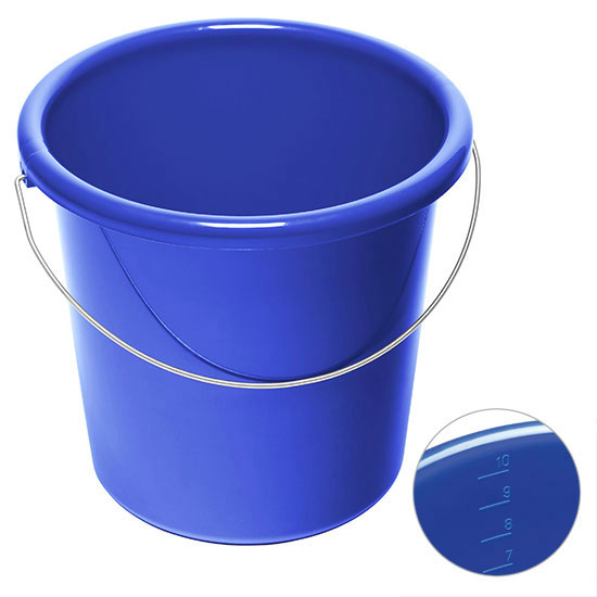 10l Eimer mit Logo Blau