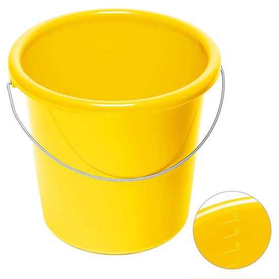 10l Eimer mit Logo Gelb
