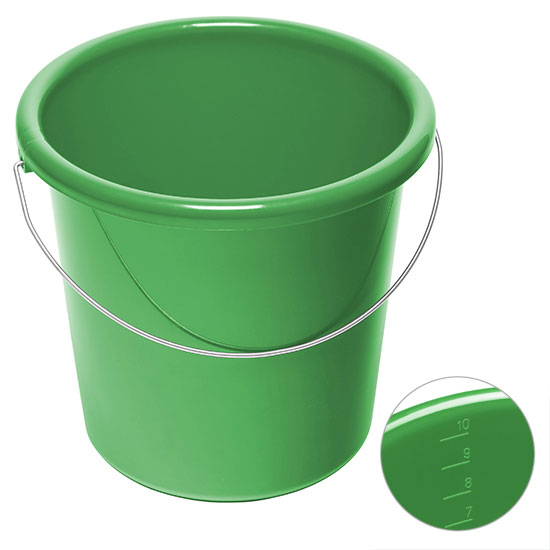 10l Eimer mit Logo Grün