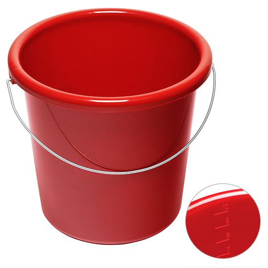 10l Eimer mit Logo Rot