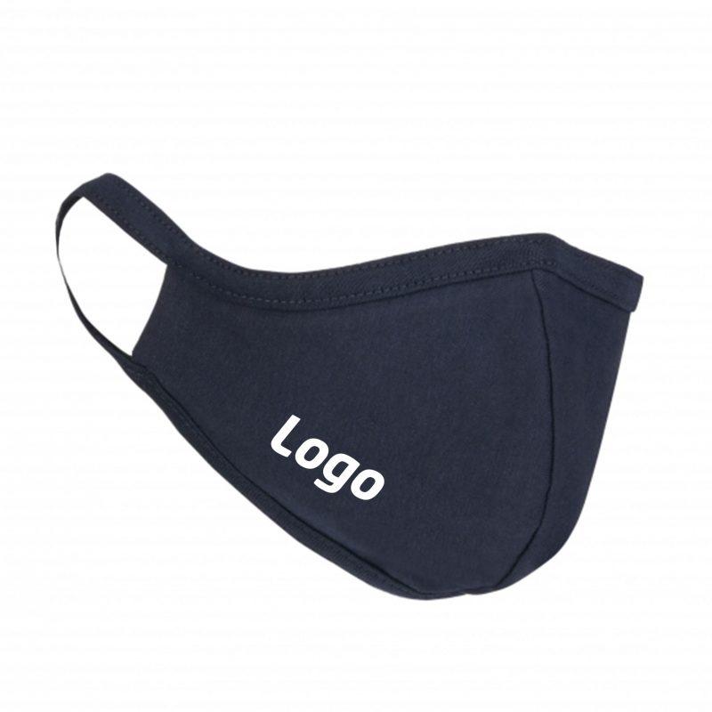 Mundschutz Maske Blau aus-Stof mit Logo